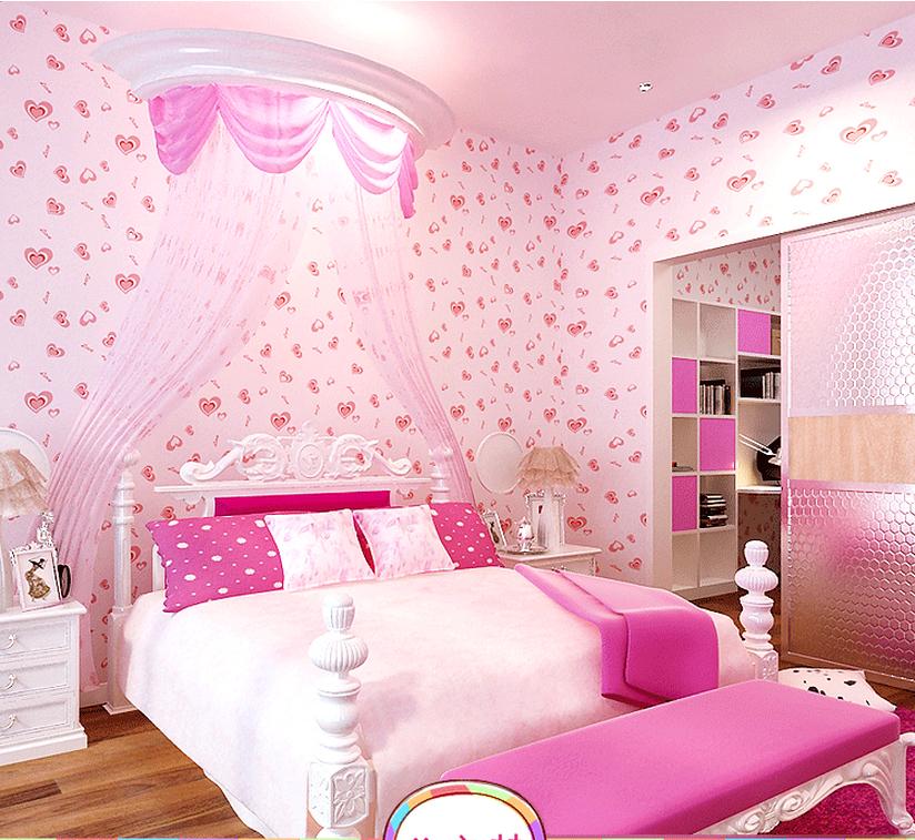 Girls wallpaper for room wallpapersafari for Girls bedroom wallpaper
