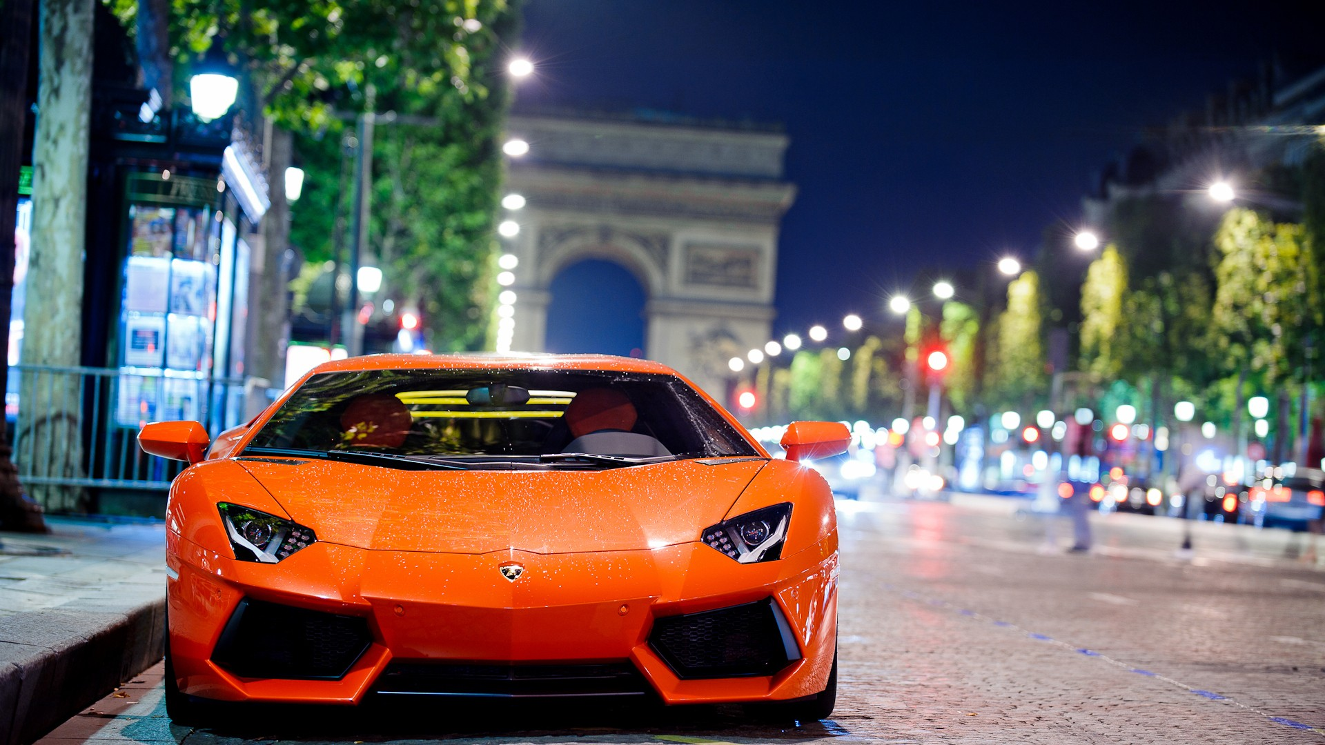 Lamborghini Aventador Night Shot Wallpapers HD Wallpapers 1920x1080