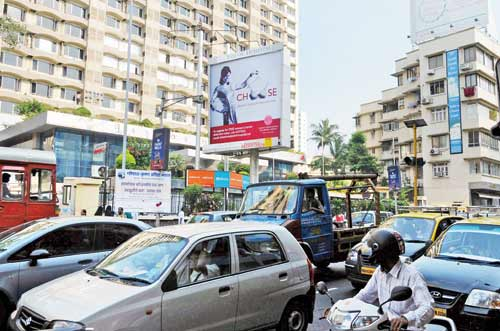 Getting attention The hoarding near Mahalaxmi Temple in South Mumbai 500x331