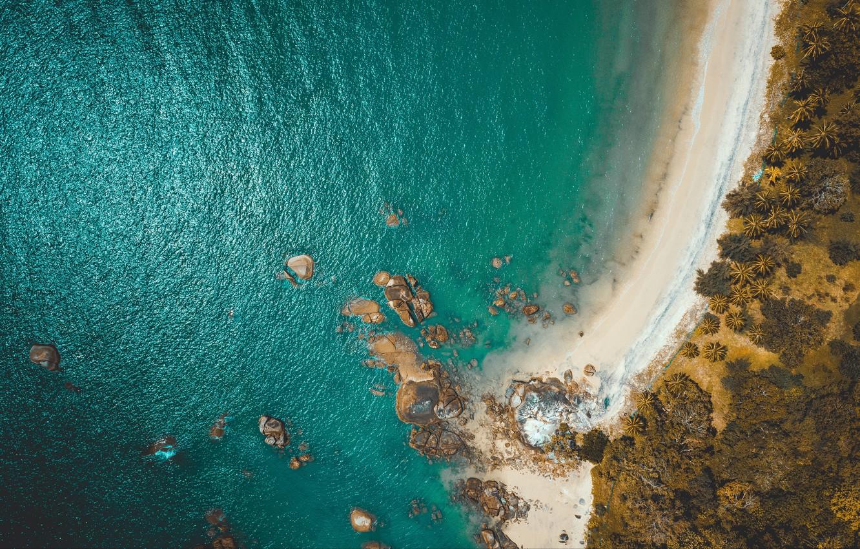 Wallpaper beach sea coast nature water rocks landscapes 1332x850