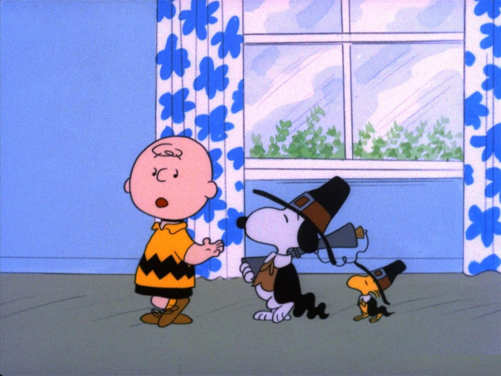 Wallpaper Thanksgiving Charlie Brown Snoopy Peanuts Cartoon 1024x768 1024x768