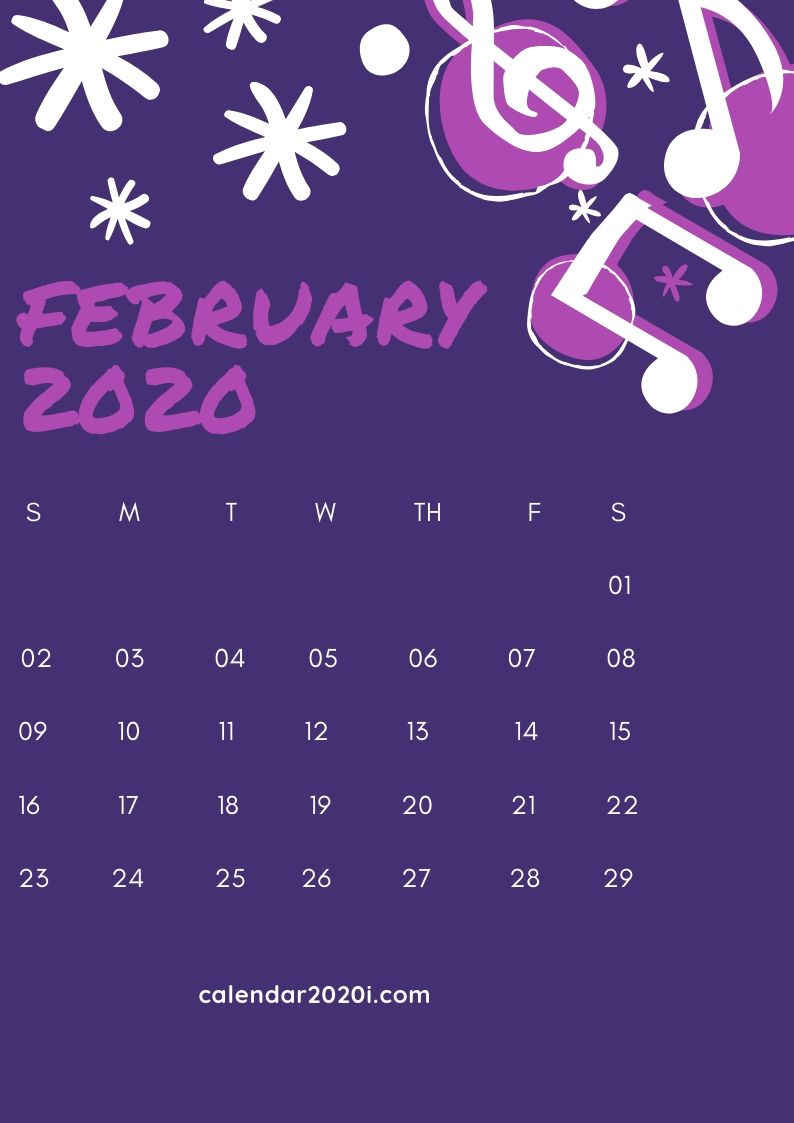 February 2020 iPhone Calendar Wallpaper in 2019 Calendar 794x1123
