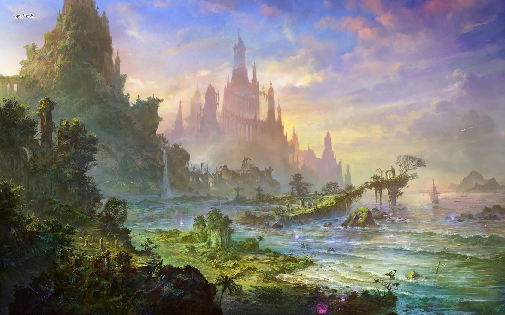 21 Fairy Tales Castles HD wallpapers High Quality Download 1680x1050