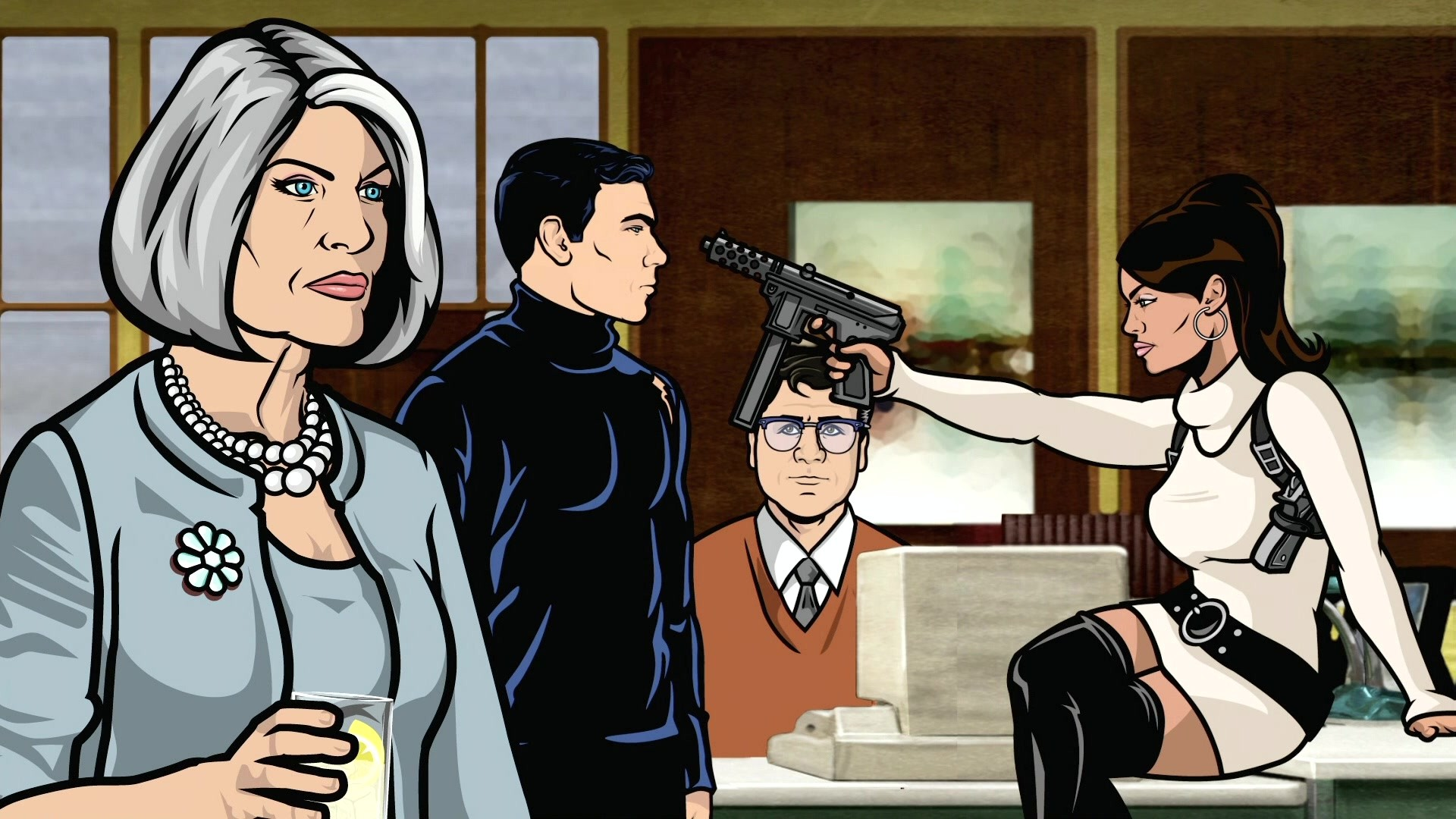 Sterling Archer Archer TV Lana Kane Malory Archer wallpaper 1920x1080