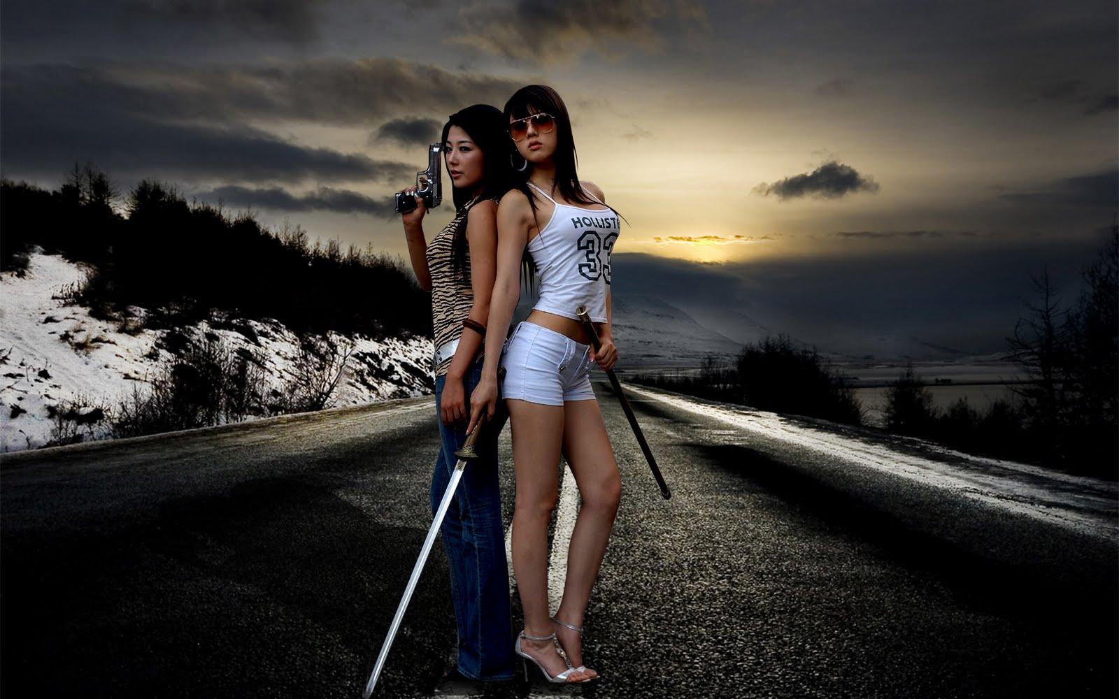 Girls with Sword Samurai Girls HD Wallpapers Download Wallpapers 1600x1000