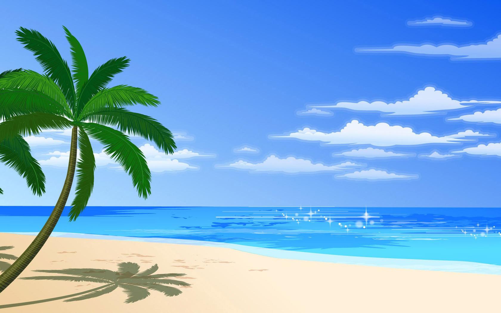 Single palm tree wallpaper 14296 1680x1050
