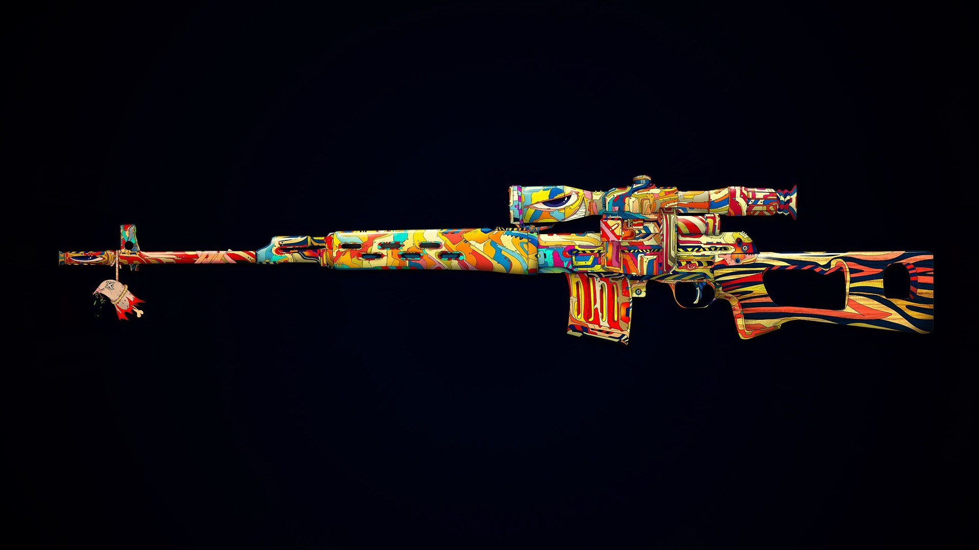Colorful Gun Design Wallpaper 16696 Wallpaper Cool 1920x1080