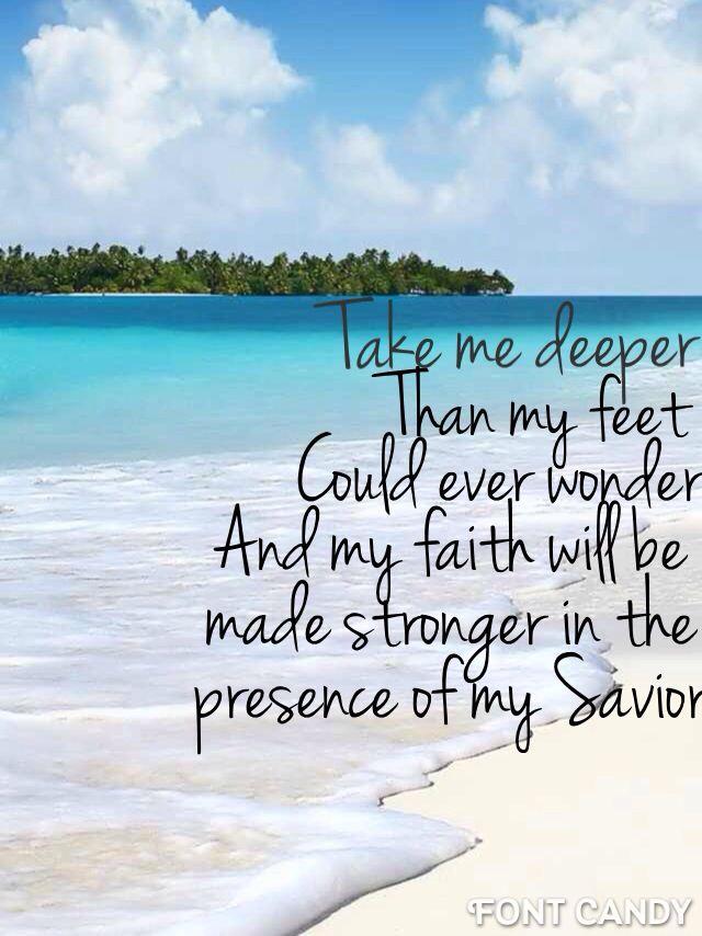Oceans by Hillsong beach Bible verse iphone 5 wallpaper 640x854