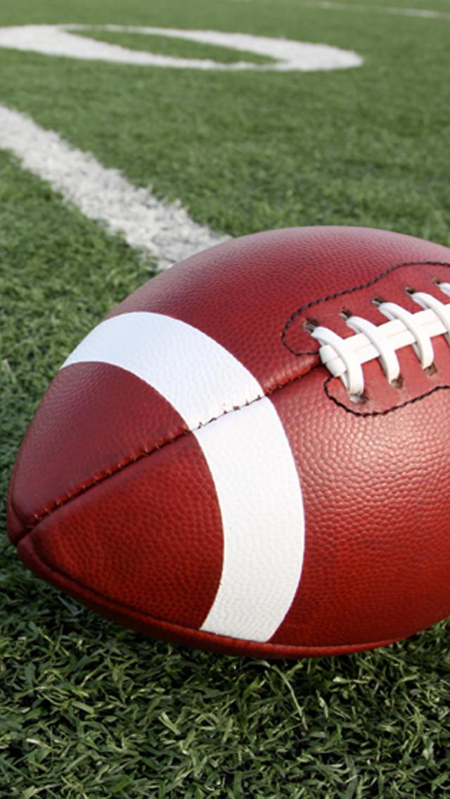 Football on a field iPhone 5 Wallpaper 640x1136 640x1136