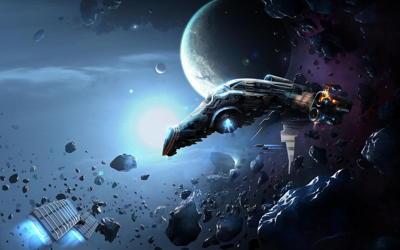 Обои Разрушенная планета, корабль картинки на рабочий стол на тему Космос - скачать  № 3552400 загрузить