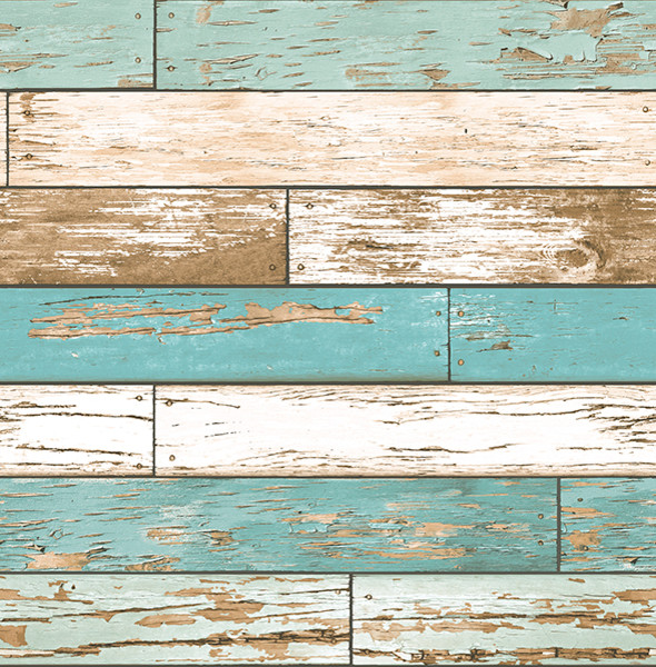 Weathered Wood Wallpaper Blue Tones Bolt   Contemporary   Wallpaper 590x600