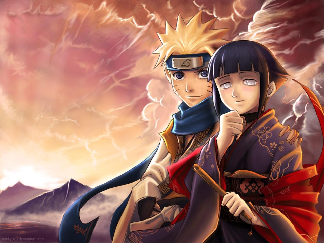 Naruto and Hinata naruto black wallpaper 1280x960