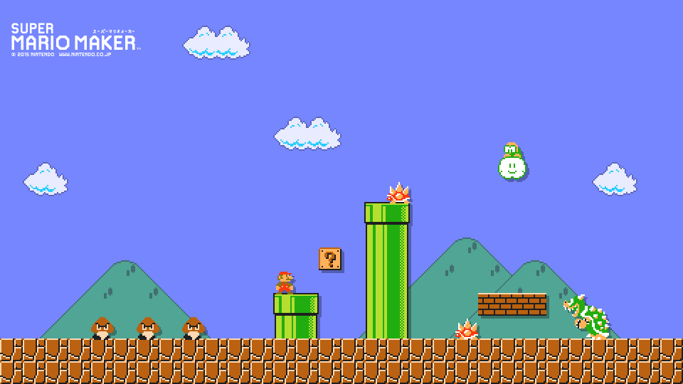 Super Mario Maker Wallpaper Creator Turns Levels Into Mobile And 960x540