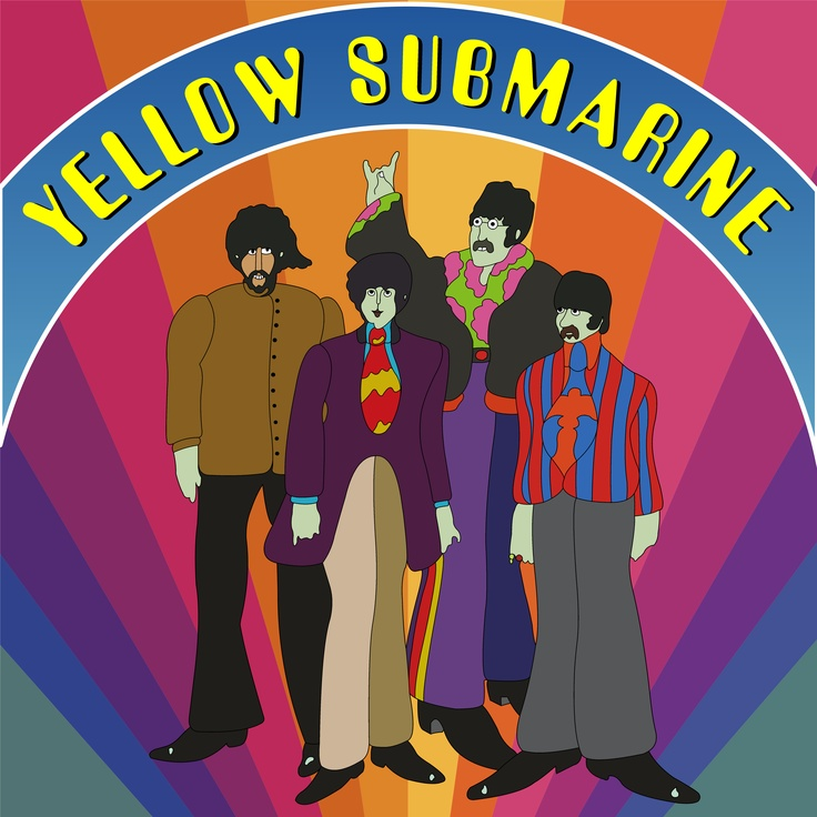 beatles yellow submarine wallpaper Ideas People Painted Rocks Pi 736x736