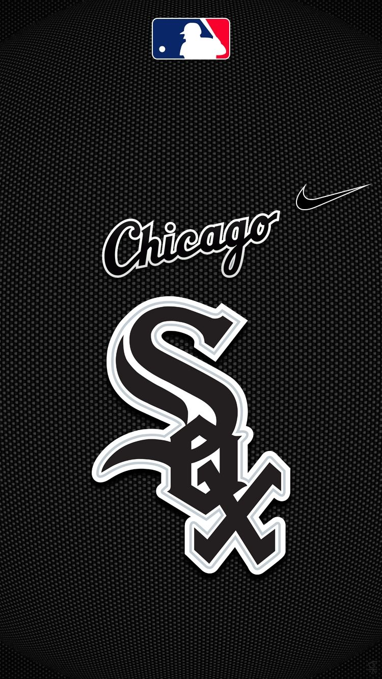chicago white sox with mlb and nike logo for iphone 6 regarding 750x1334