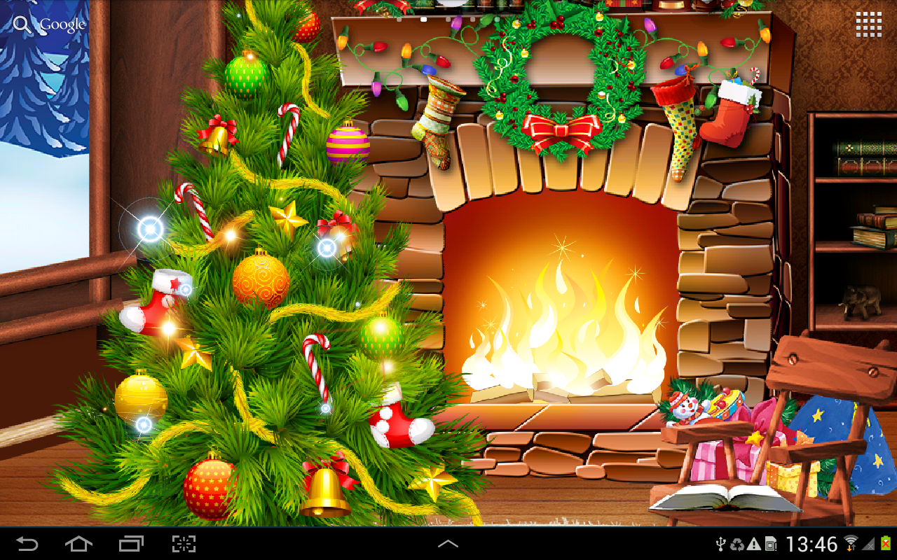 wallpaper with animated christmas tree dynamic christmas lights 1280x800