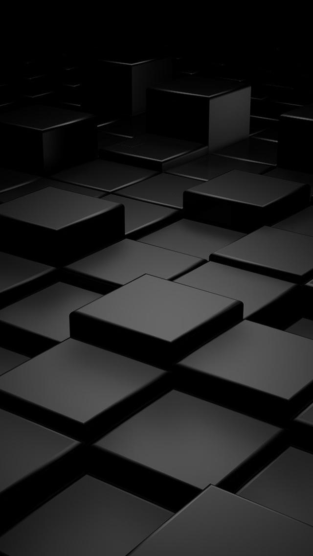 Black 3D Blocks iPhone 5s Wallpaper Download iPhone Wallpapers iPad 640x1136