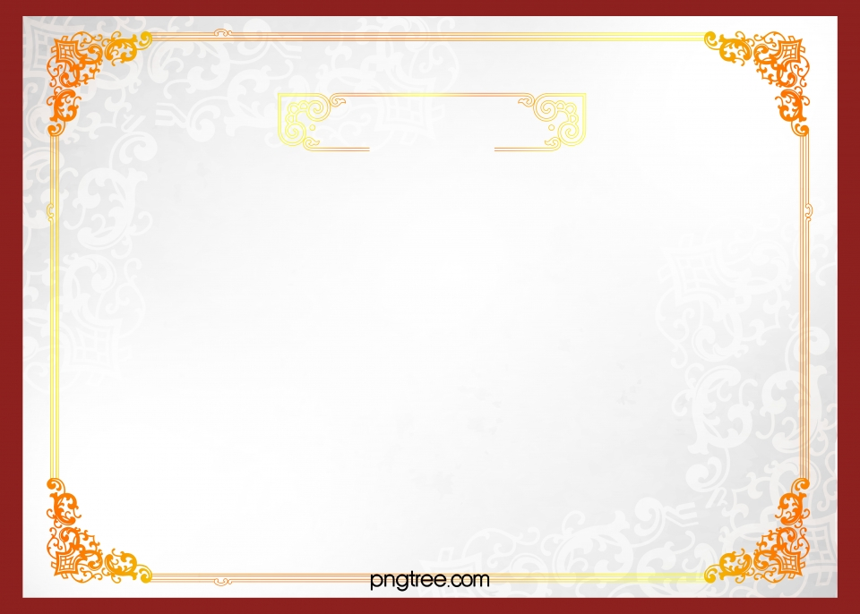 Simple European Certificate Border Background Material Simple 960x686