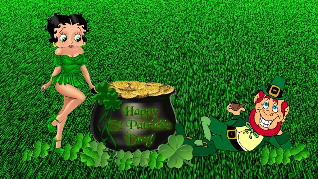 Get Lucky with Leprechaun Desktop Wallpaper for St Patricks Day 1024x576