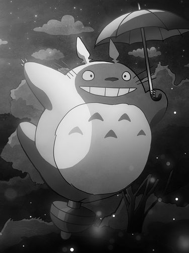 My Neighbor Totoro flight screensaver for Amazon Kindle 3 375x500