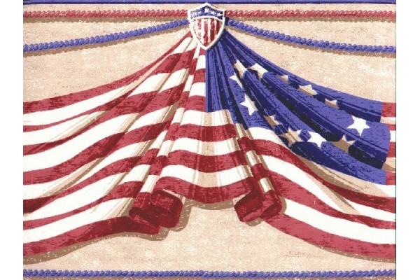 Home Flag Wallpaper Border B6206a 600x400
