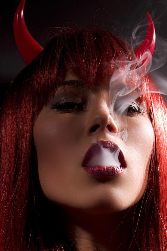Devil Girl   iPhone Wallpaper 640x960