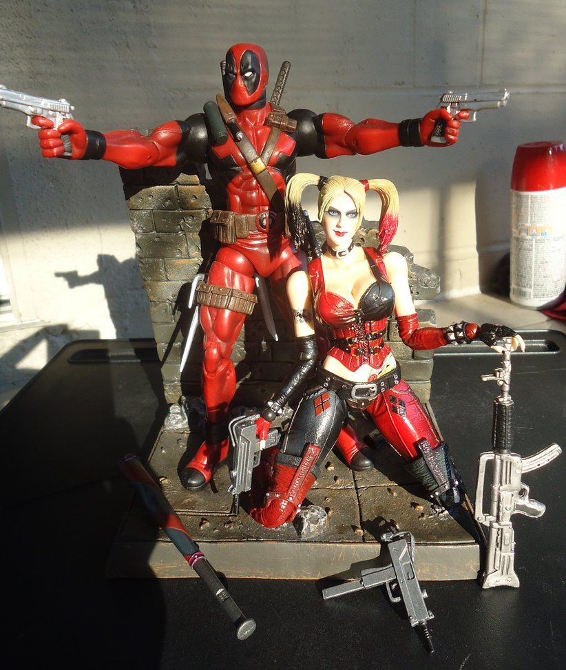 Free Download Deviantart More Like Deadpool X Harley Quinn X