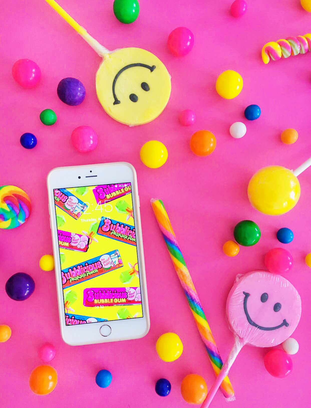 Throwback Candy Phone Backgrounds   Studio DIY 1242x1628