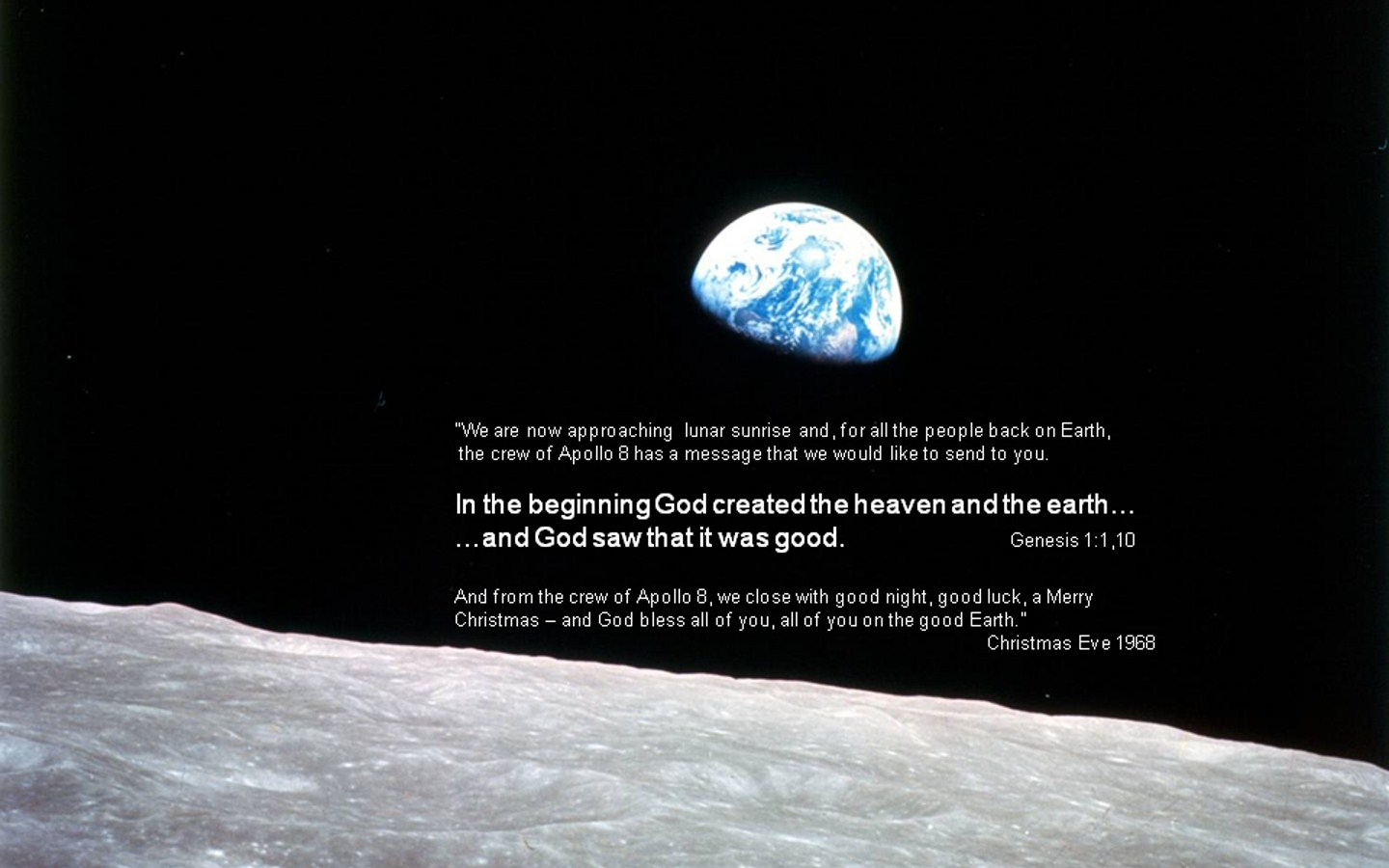 This Day in History Genesis from the Moon 12242008 1440x900
