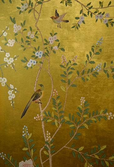 hand painted de Gournay wallpaper 364x533