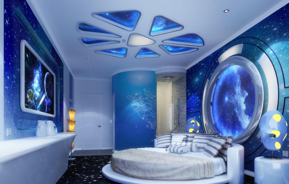 space theme bedroom interior design pink wedding theme design for 1209x770