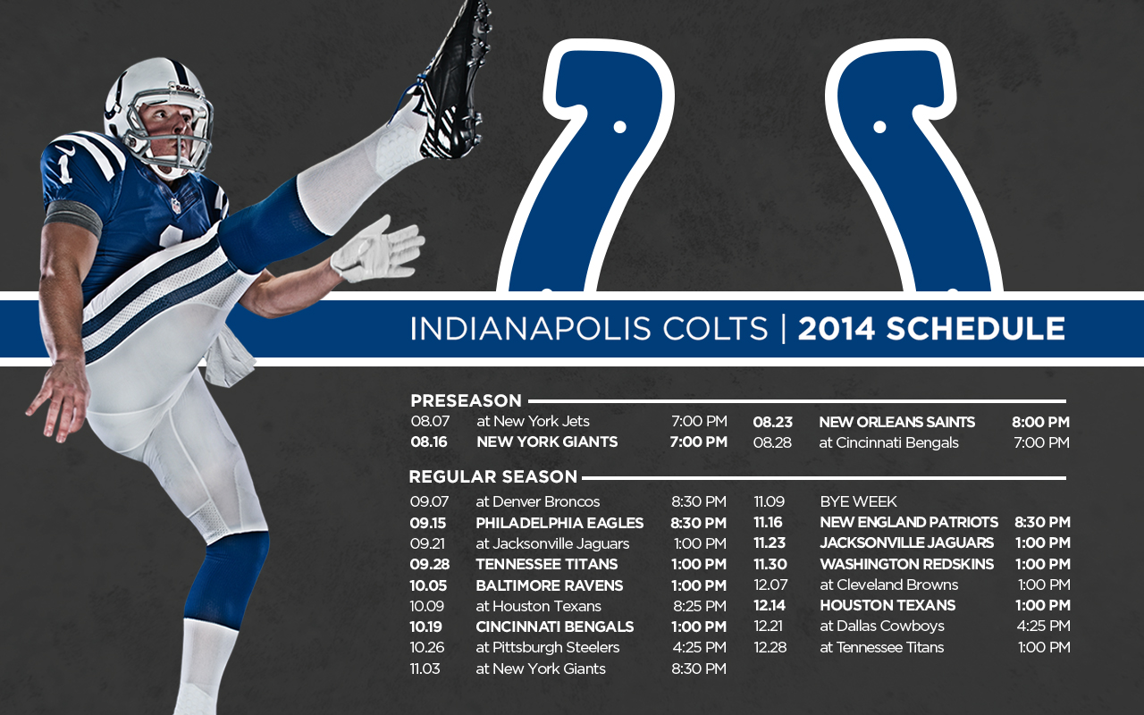 Colts Schedule Wallpaper - WallpaperSafari