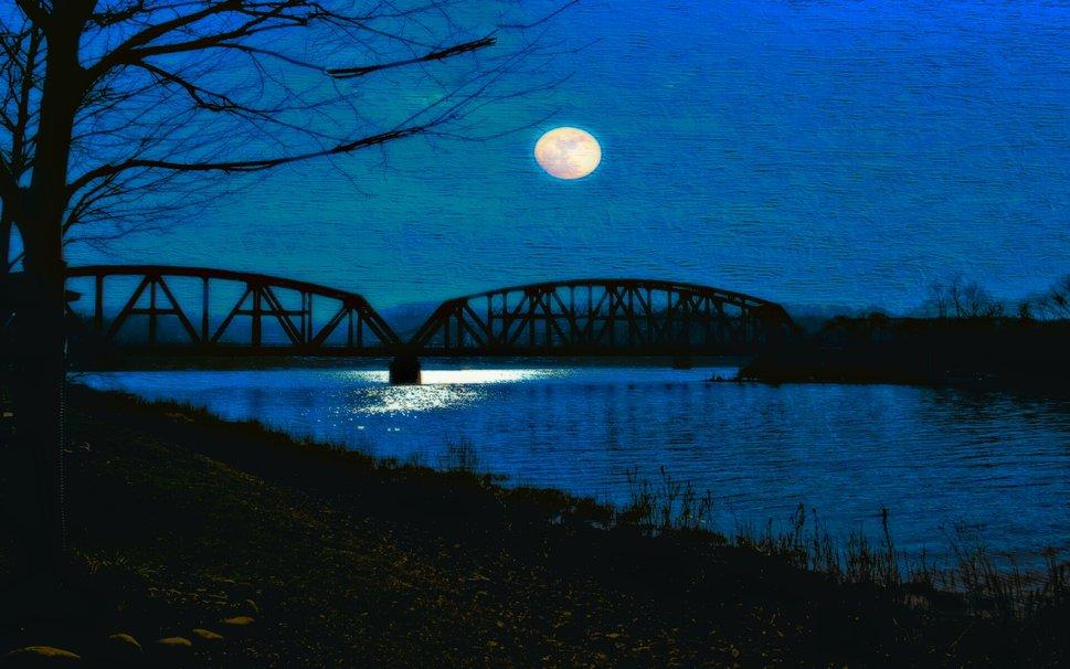 Moon Over River wallpaper   ForWallpapercom 969x606
