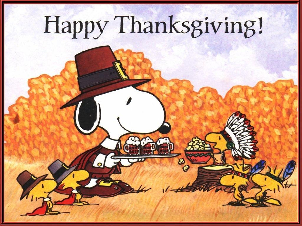 peanuts thanksgiving desktop backgrounds 1024x768