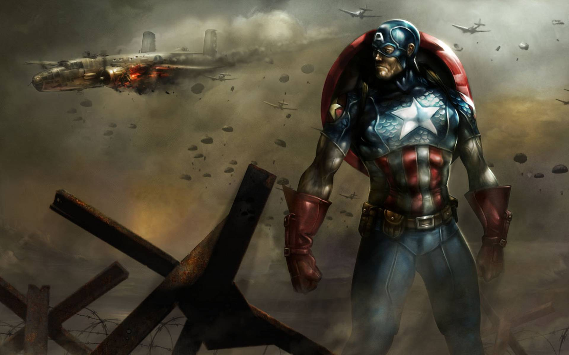 Captain America desktop wallpaper 1920x1200
