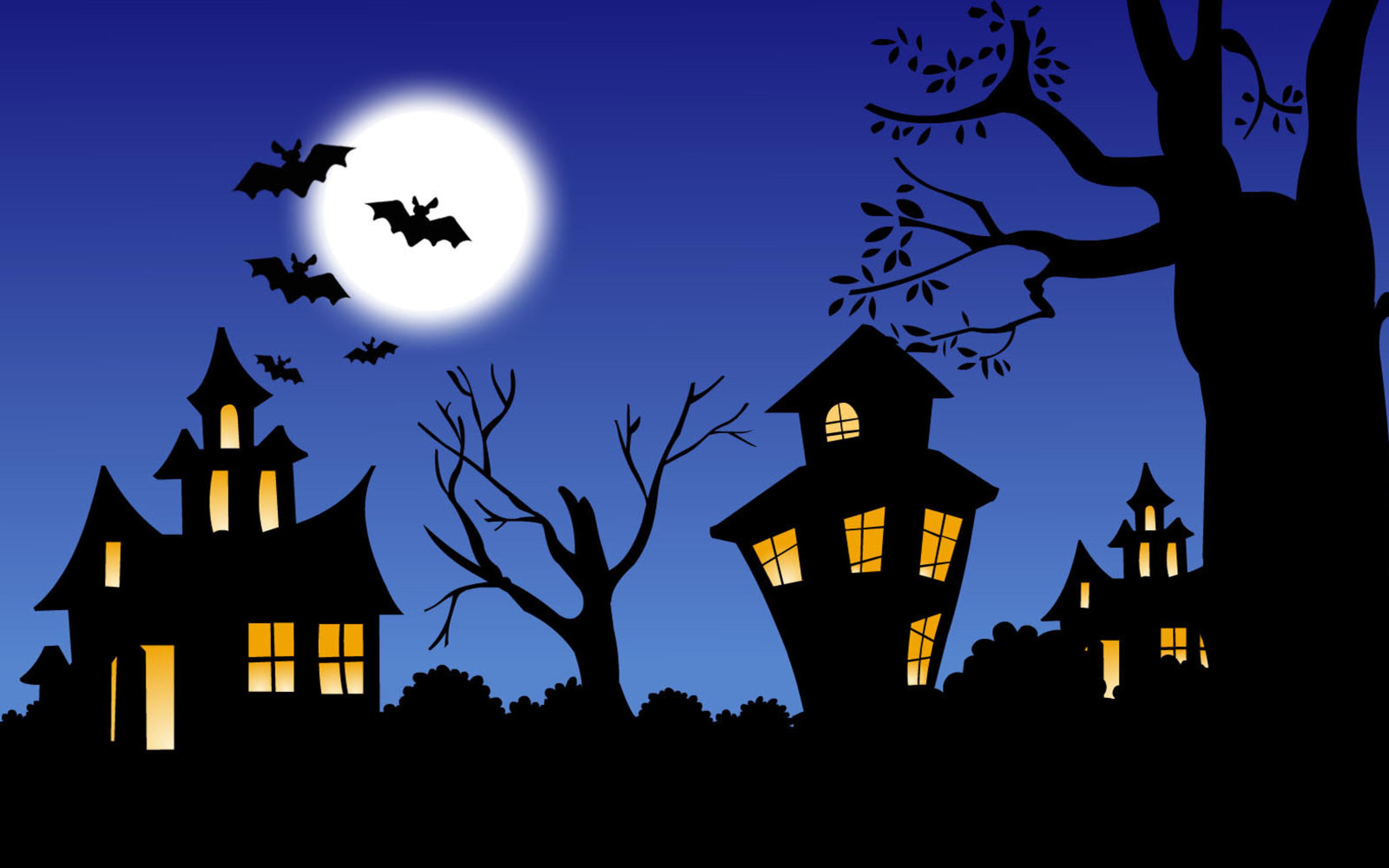The night of Halloween   HD wallpaper 5120x3200