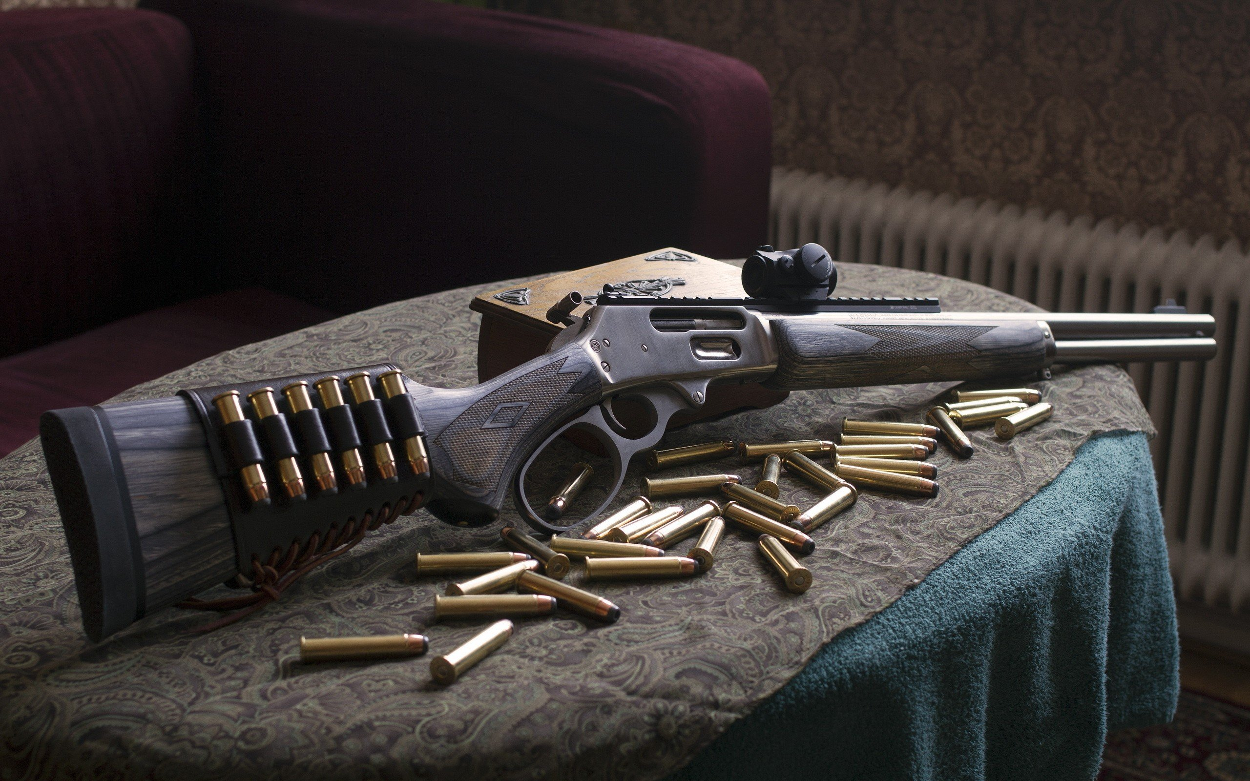 MARLIN hunting rifle weapon gun wallpaper 2560x1600 519280 2560x1600