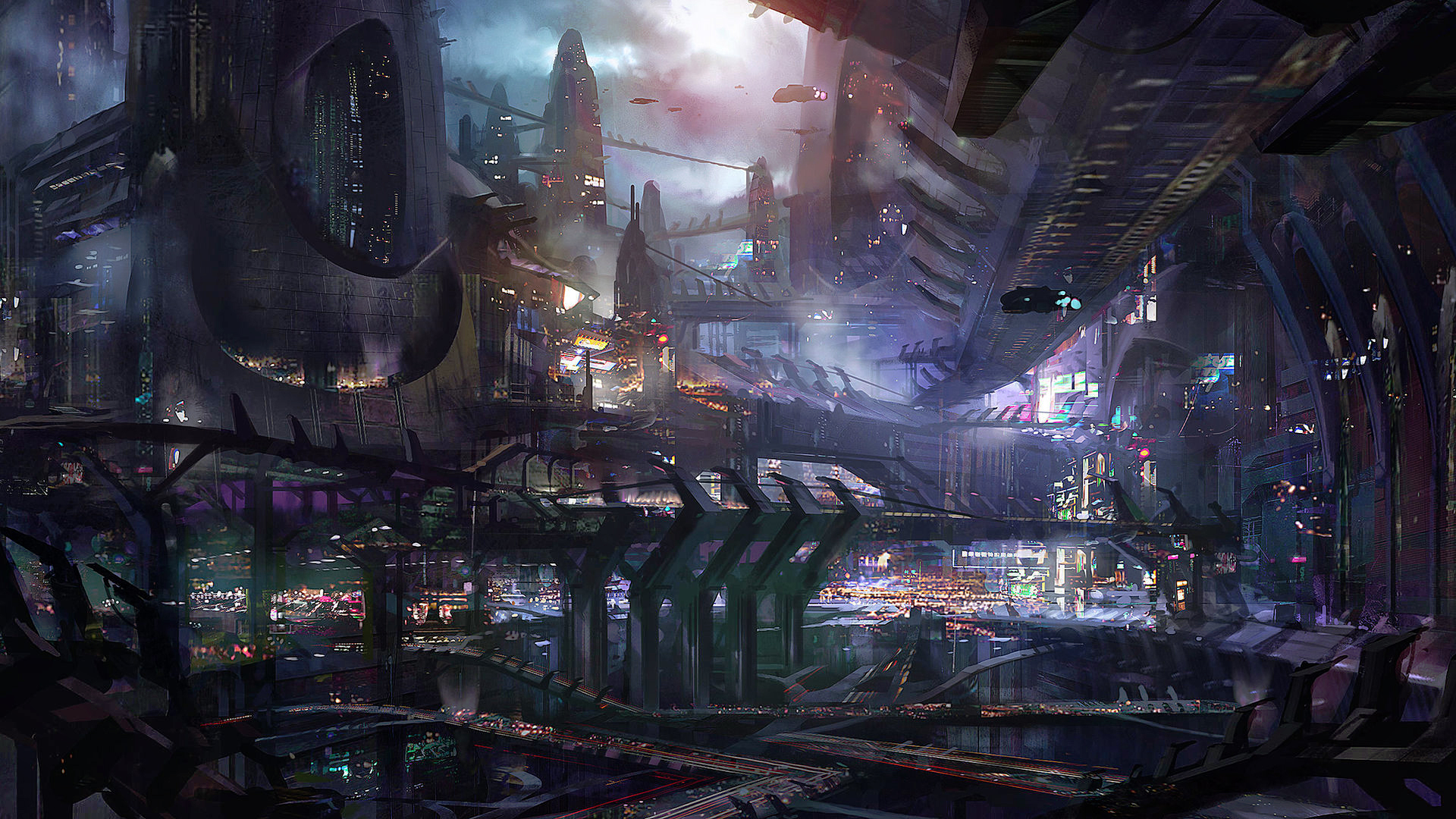 Sci Fi City 1920x1080 1   hebusorg   High Definition Wallpapers 1920x1080