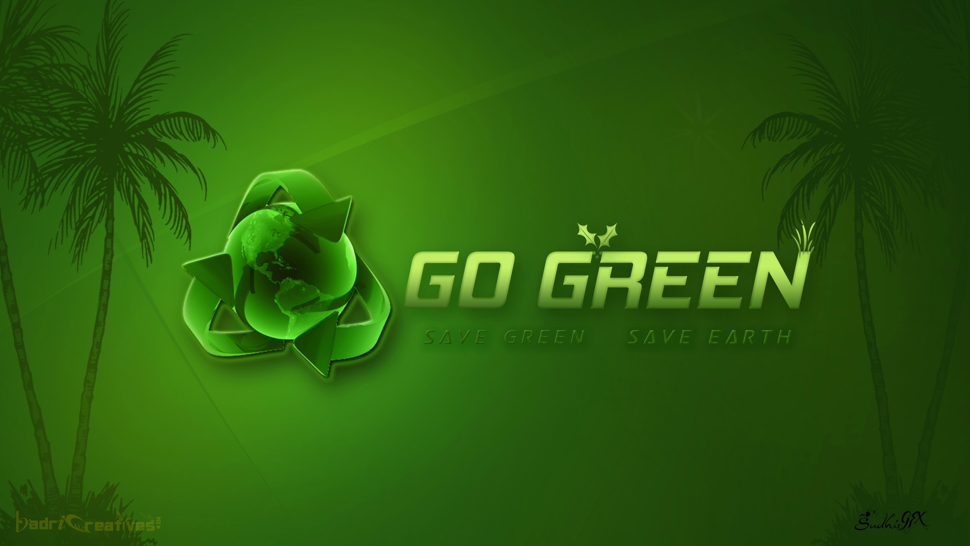 Go green wallpapers wallpapersafari for Wallpaper to go