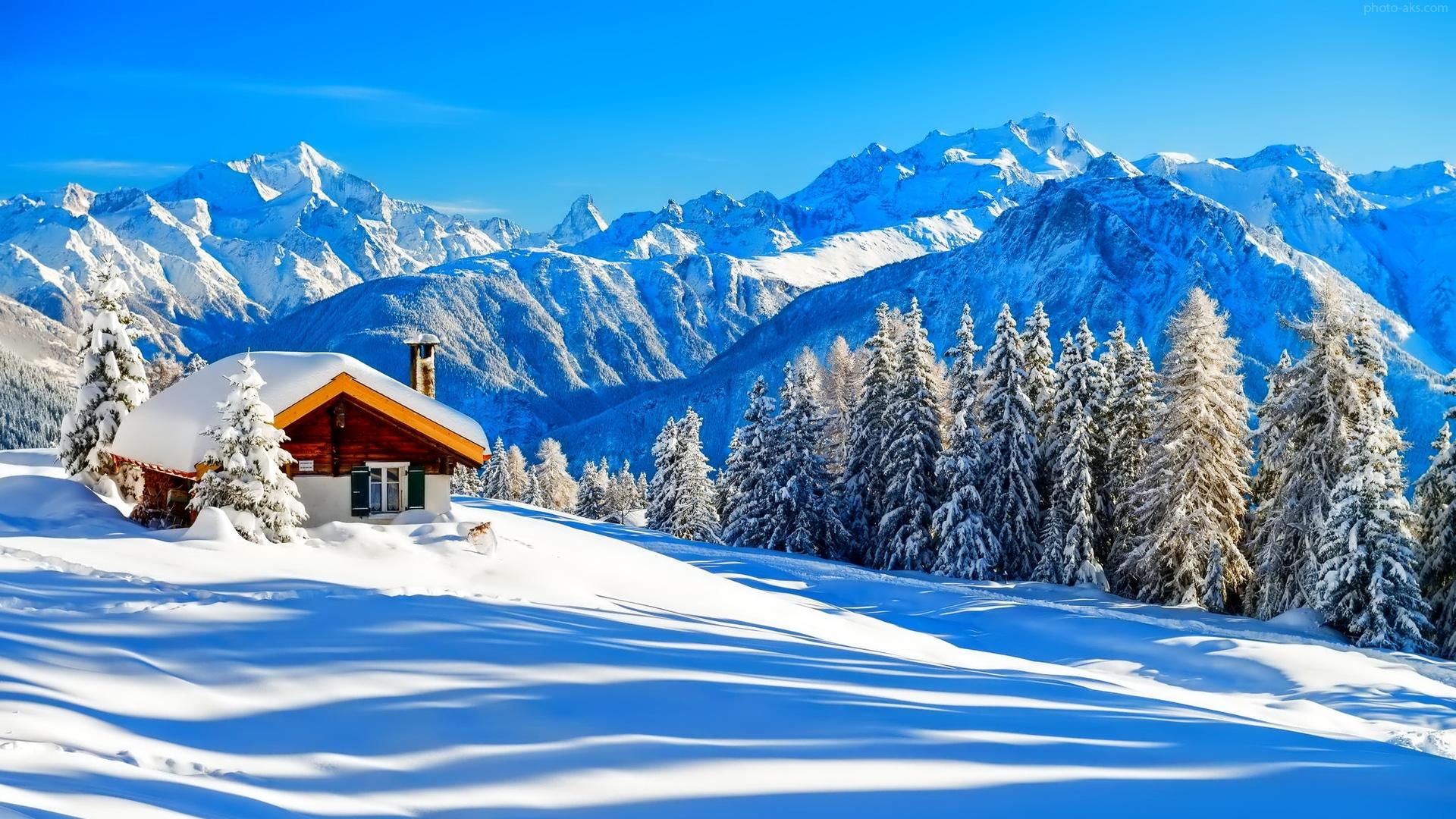 beautiful mountain in winter 1920x1080