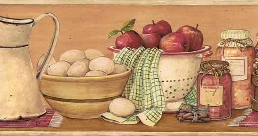 kitchen wallpaper Kitchen Shelf Tan Wallpaper Border   Wallpaper 525x277