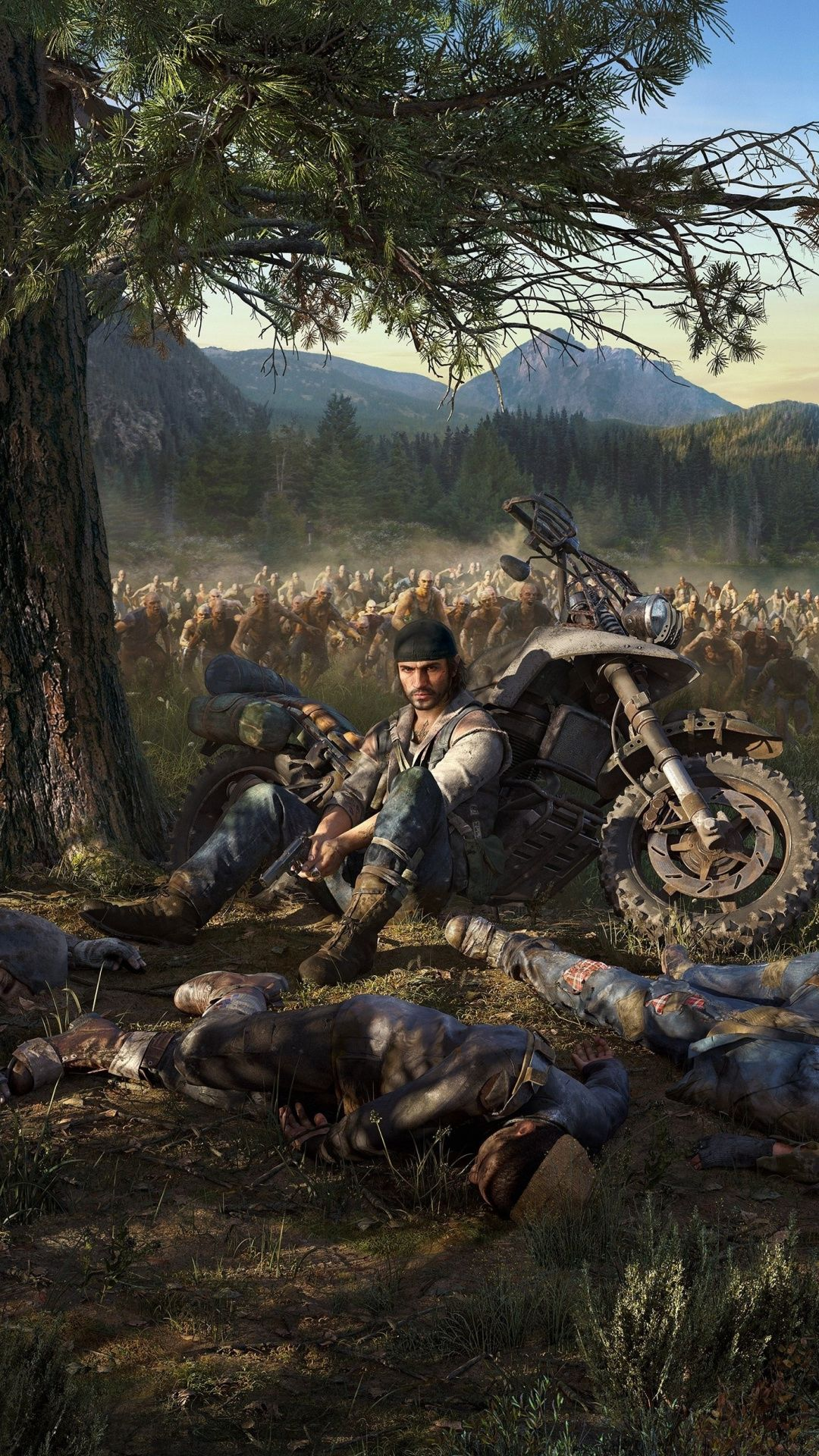 Biker Days Gone video game zombies attack 1080x1920 wallpaper 1080x1920