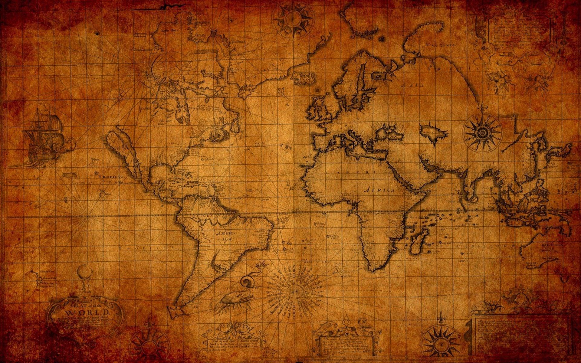 Antique World Map Wallpaper 39 images 1920x1200