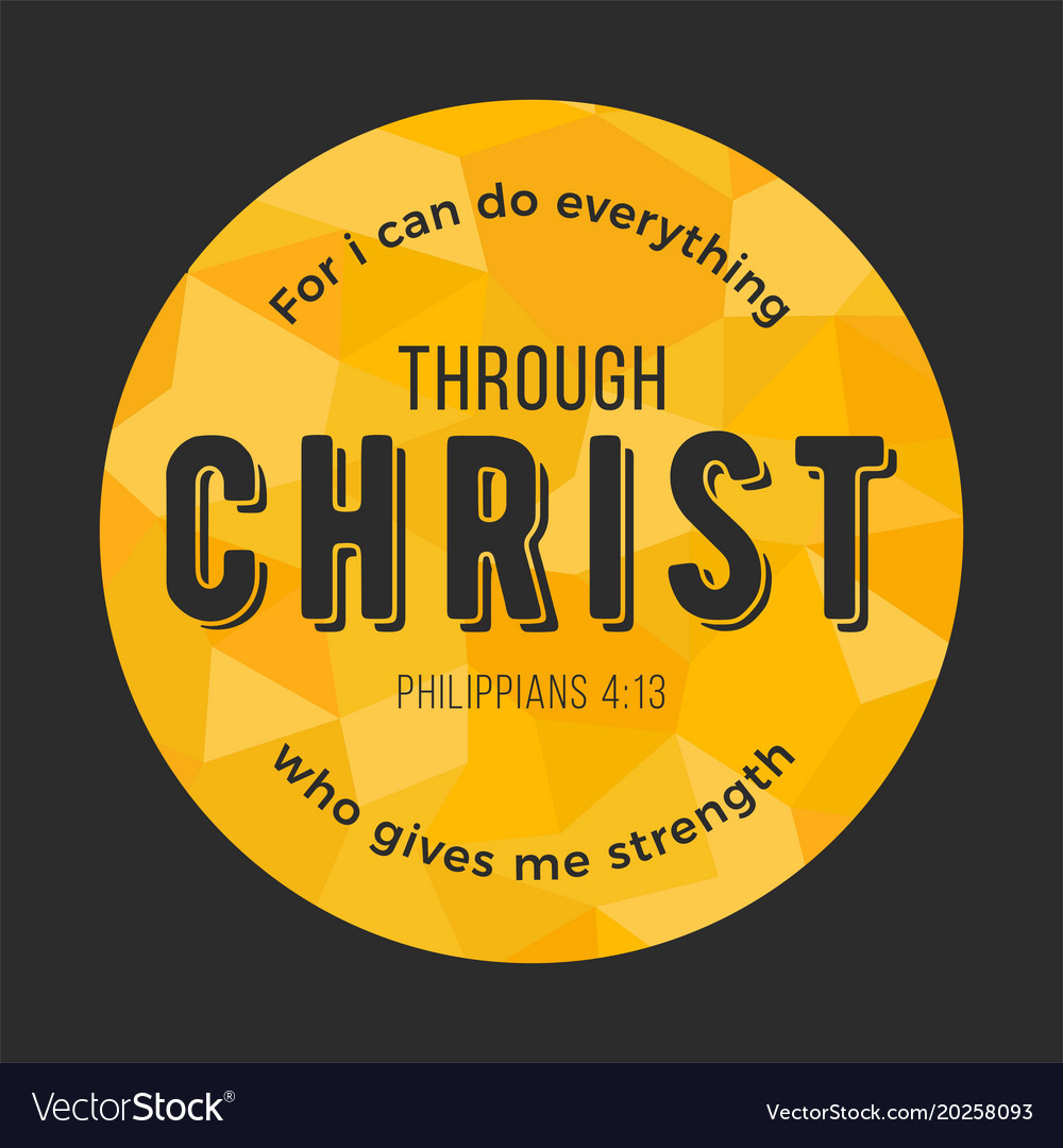 Bible quote from philippians on polygon background 1000x1080