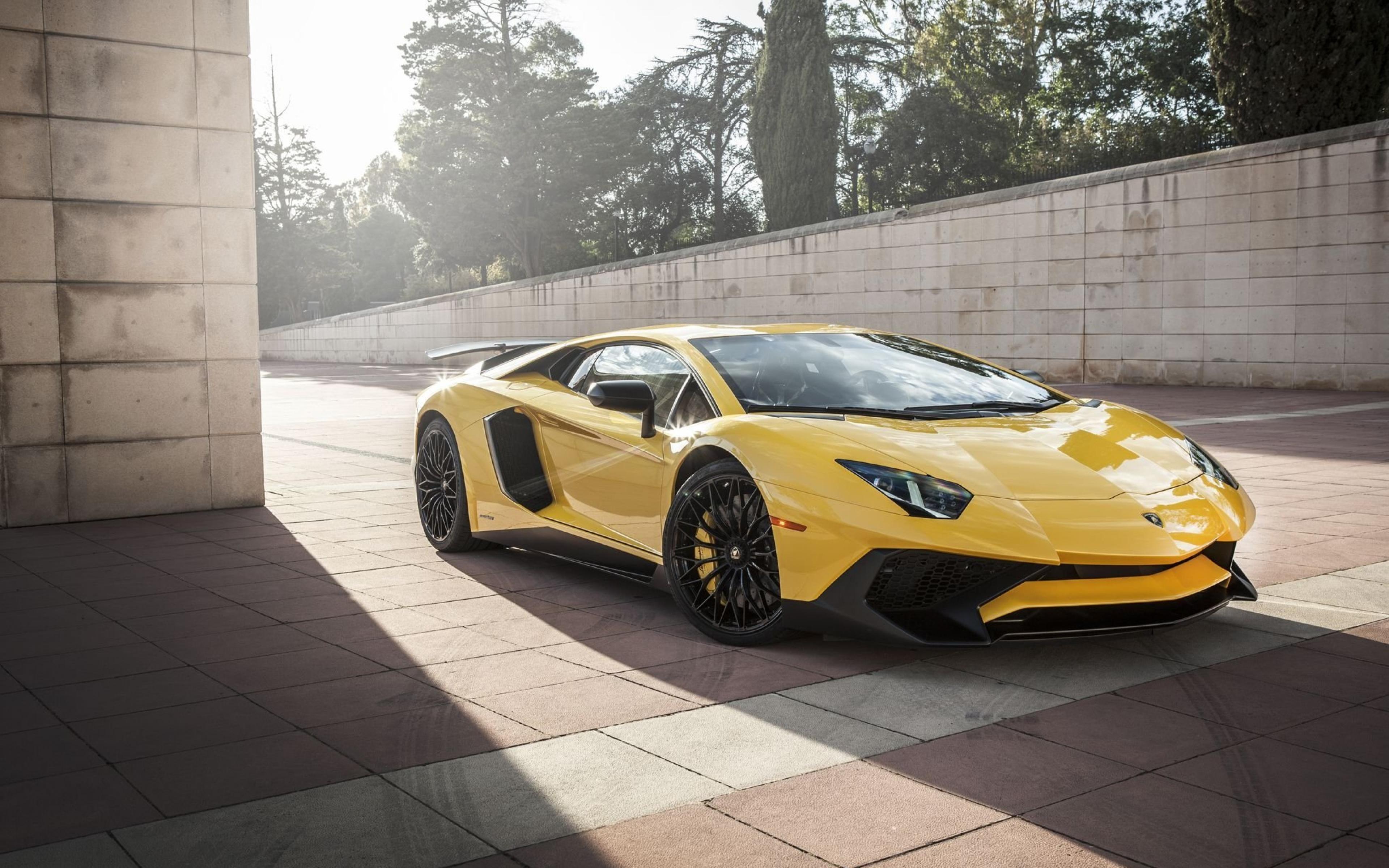 Yellow Lamborghini Car Wide HD Wallpaper 59987 3840x2400px 3840x2400