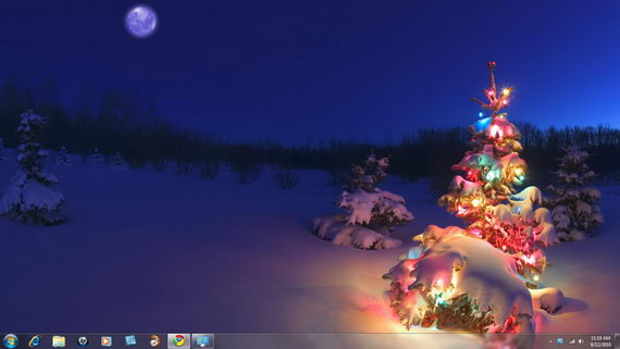 Windows 7 Christmas Theme Holiday Lightsjpg 570x321