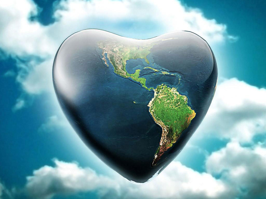 Heart Planet wallpapers 1024x768