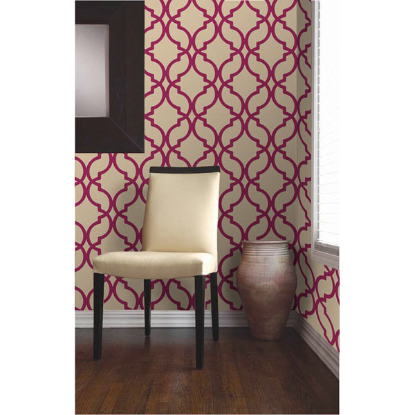 Dl30618 Red Moroccan Trellis   Harira   Decorline Wallpaper 600x600
