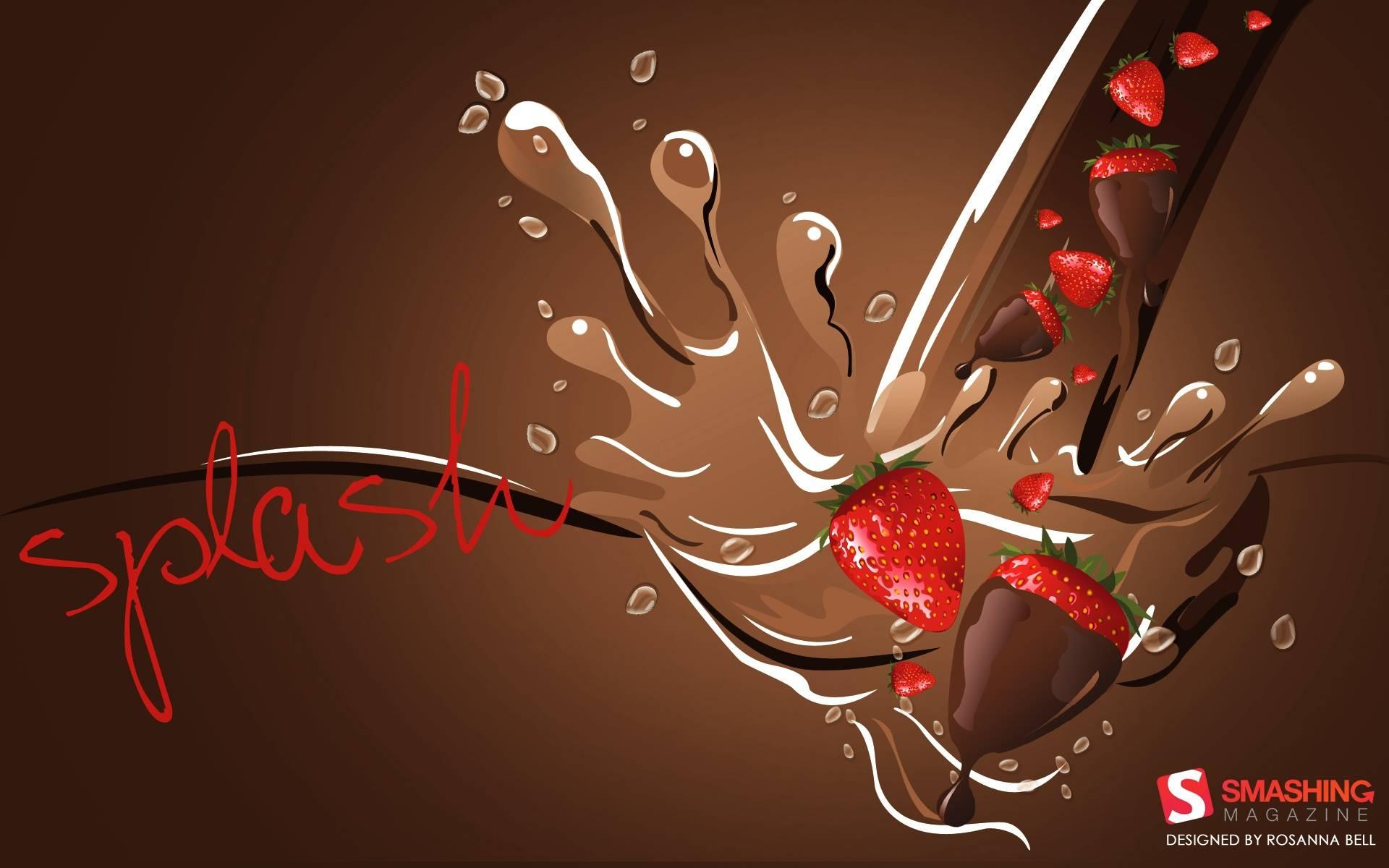 Chocolate wallpaper 1920x1200 Wallpaper of Chocolate and strawberries 1920x1200