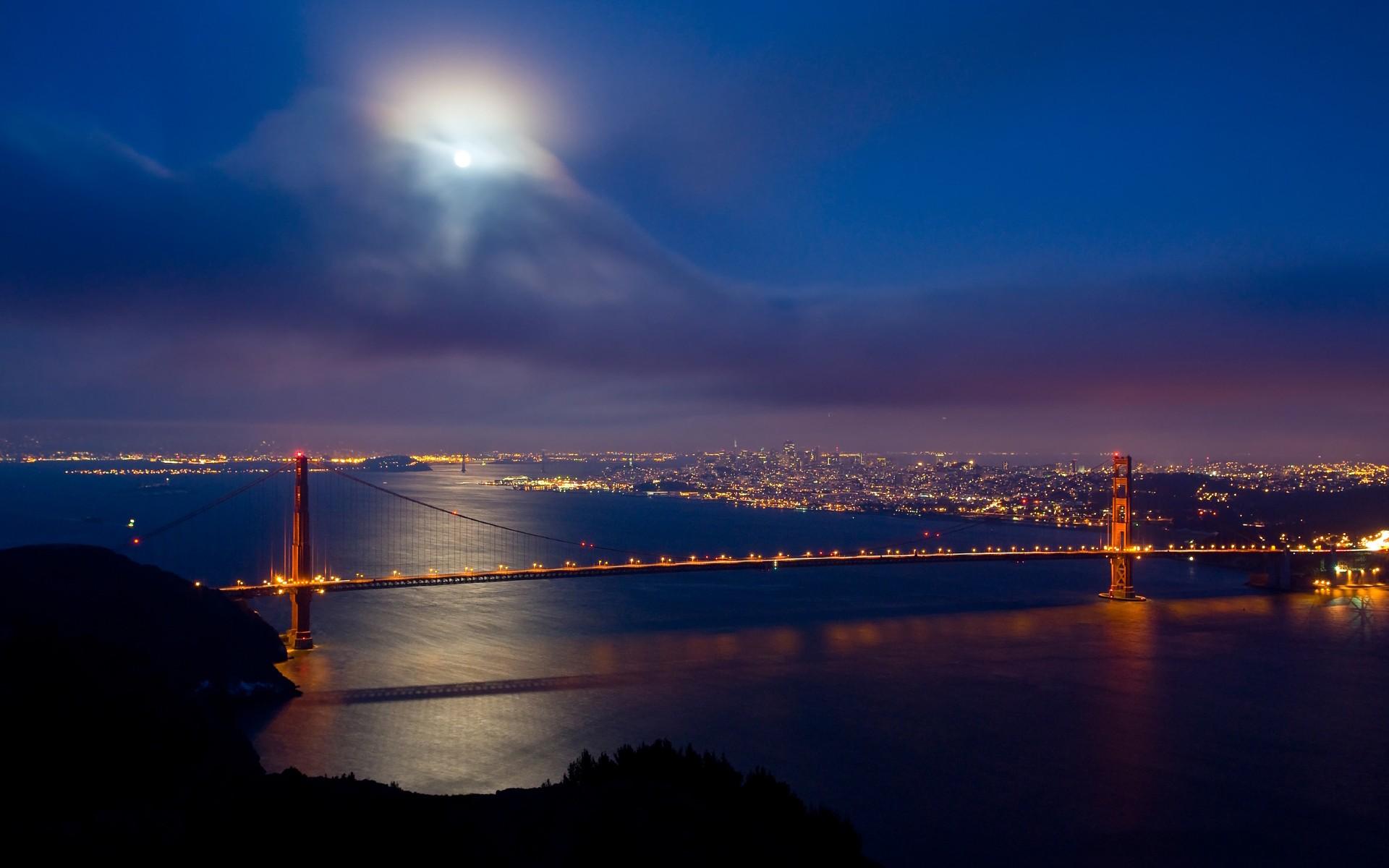 Golden Gate San Francisco world architecture bridges cities skyline 1920x1200